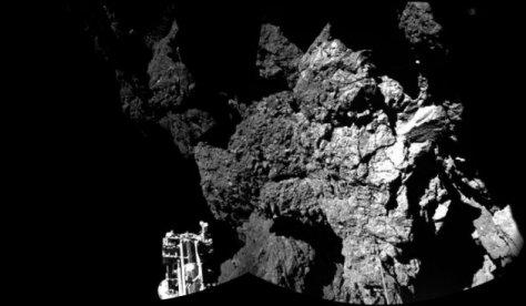Philae sobre la superficie del cometa 67P Churyumov-Gerasimenko AP Esa Rosetta Philae