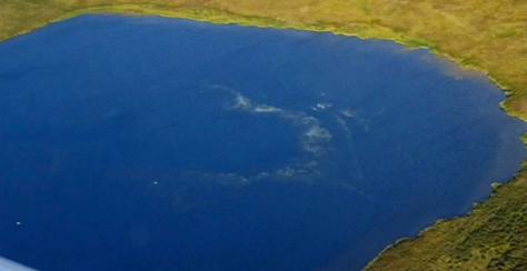 lago en crater de siberia
