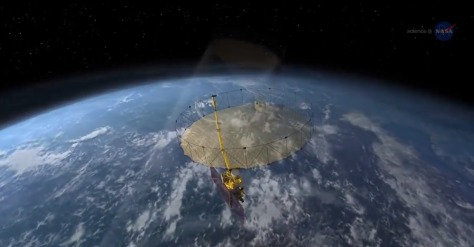 Satelite de SMAP para detectar el agua de la Tierra