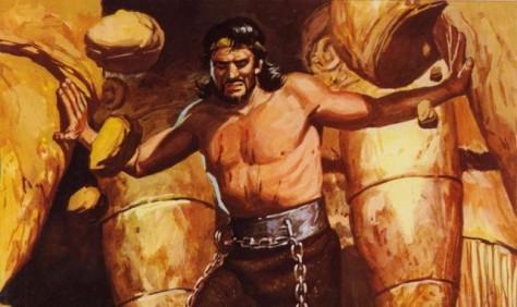 Sanson derriba el templo