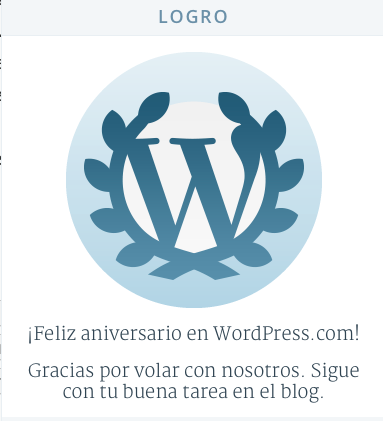 Wordpress Cuarto Aniversario