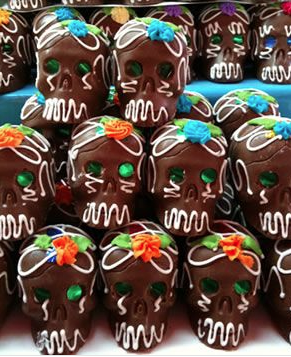 calaveritas de chocolate