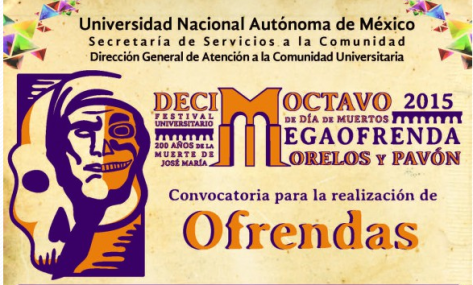 Mega ofrenda CU dia de muertos 2015