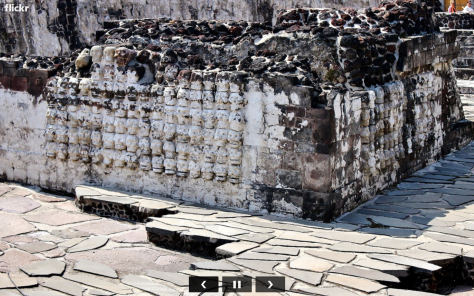 Tzompantli Templo Mayor Tenochtitlan