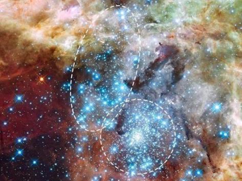 Choque de estrellas Hubble