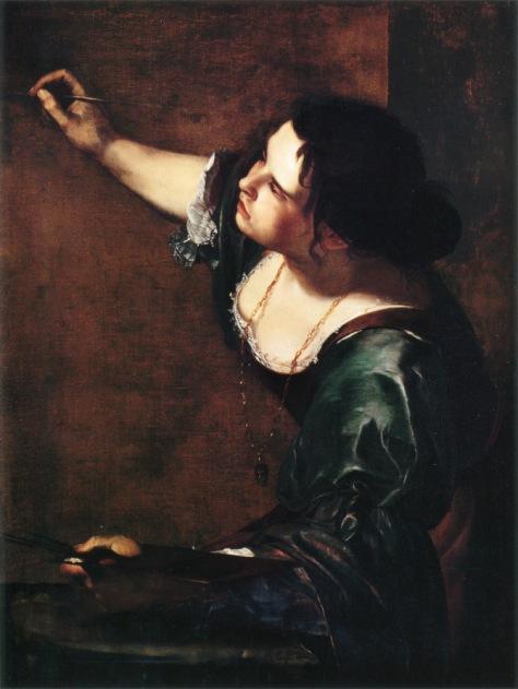 Artemisia Gentileschi Autorretrato como alegoría de la pintura Óleo sobre lienzo, 98,6 x 75,2 cm, Royal Collection .