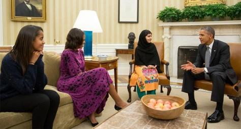 Malala y Obama