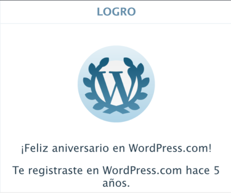 ANIVERSARIO 5 EN WORDPRESS