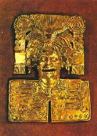 Pectoral de oro ofrenda mortuoria Tumba 7 Montealbán Oaxaca México