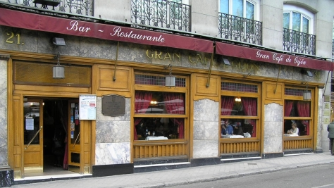 cafe gijón Madrid fachada