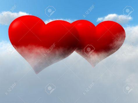 8732232-dos-de-coraz-n-amor-rojo-en-forma-de-flotando-en-el-cielo-en-las-nubes-foto-de-archivo