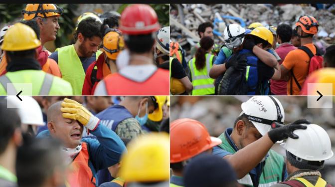 FOTOS: El dolor de los mexicanos al pedirles que paren los rescates
