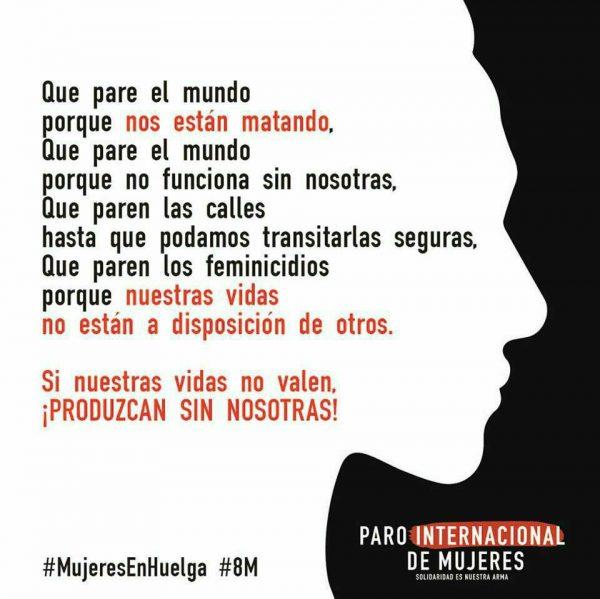 8 M  HUELGA FEMINISTA NO HAY PUBLICACIÓN